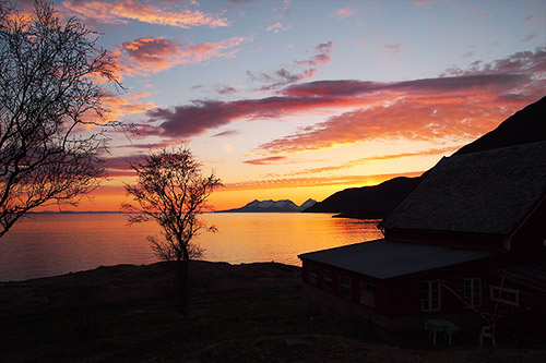 The view from my bedroom in Northern Norway - 19th of May 2013