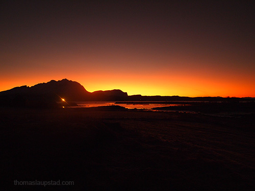 Picture from the darkest day in Northern Norway 21st of December 2012